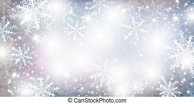 Christmas background design of falling snowflake and snow winter season vector illustration