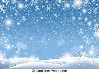 Christmas background design of snow falling winter season vector illustration