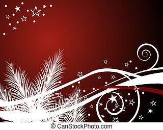 christmas background - vector illustration of stars and...