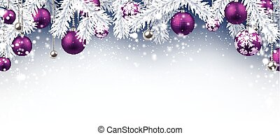 Christmas background. - Christmas background with purple...