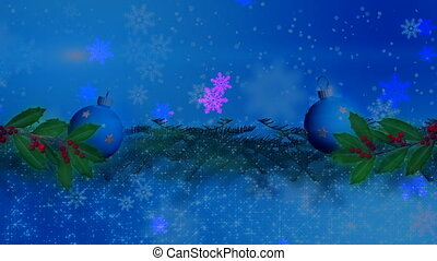 Christmas background , Falling snowflakes, blurred christmas background, happy new year 4