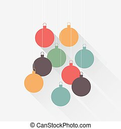 Christmas background flat balls