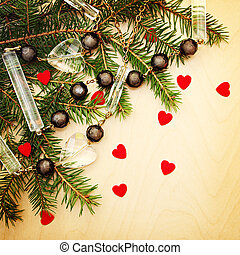Christmas background for invitation and greeting cards.