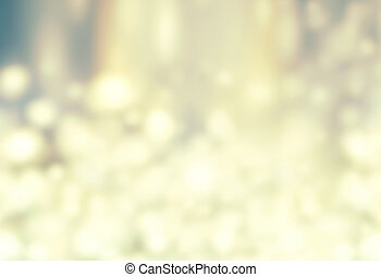 Christmas Background - Glitter Abstract circular bokeh. Golden Holiday Abstract Glitter Defocused Background. Blurred Bokeh