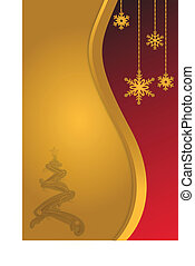 Christmas background gold