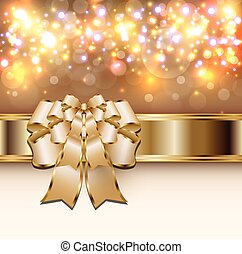 Christmas background gold lights