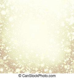Christmas background - gold sparkling lights. Defocused ...