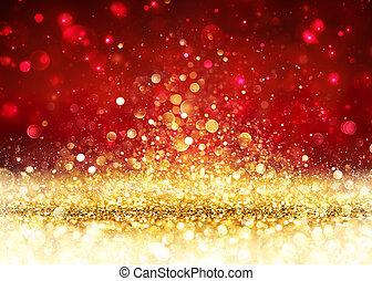 Christmas Background - Golden