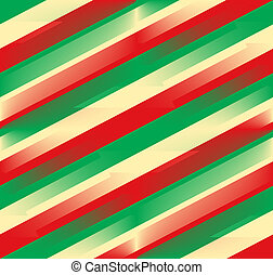 Christmas background green red yellow stripes 3d-illustration