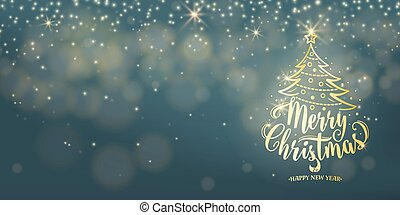 Christmas Background. Happy new year holiday type text