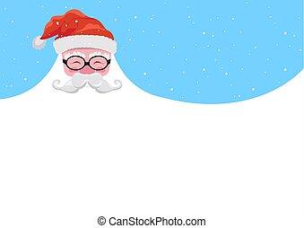 Christmas Background Happy Santa with a Beard