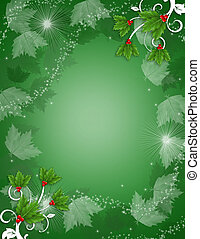 Christmas Background Holly sparkle - Image and illustration...