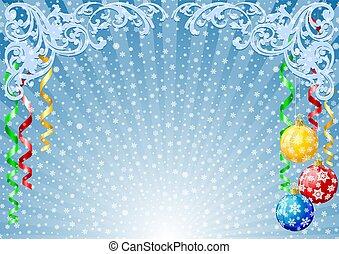 Christmas background - illustration of christmas background...