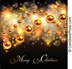 Christmas background gold lights, abstract vector...