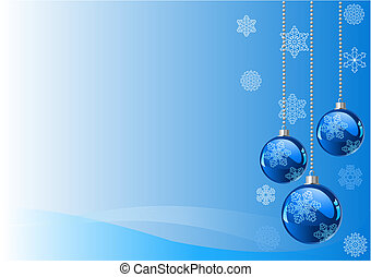 Christmas Background - Vector Christmas Background with...