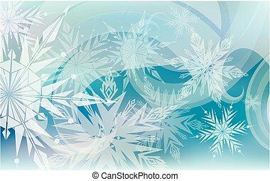 Christmas background light snowflakes