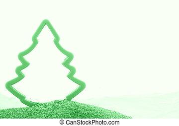 Christmas background, monochrome green