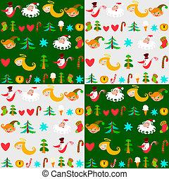 Christmas background, New Year's wa