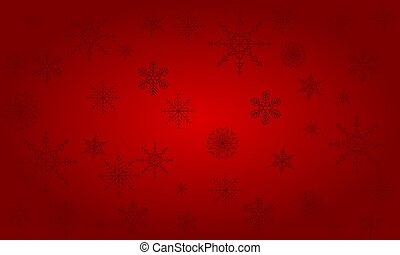 Christmas background of big and small snowflakes