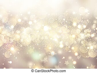 christmas background of bokeh lights and stars 0308