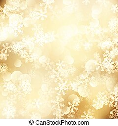 Christmas background of golden snowflakes 1311