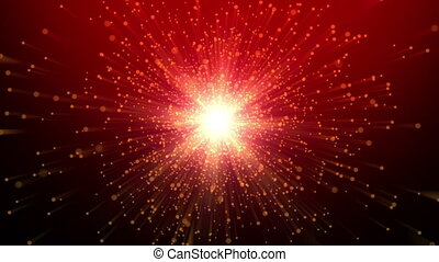 Christmas background of moving graphics footage with glittering particles