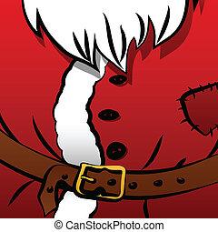 Christmas background of Santa's coa