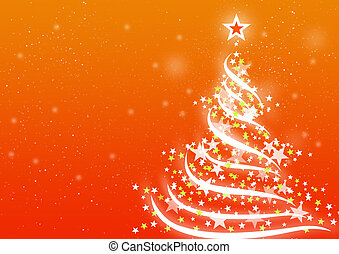 Christmas background Orange - Abstract background for...