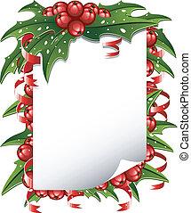 Christmas background: paper decorat
