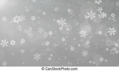 Christmas Background RedTheme , With Glittering Snowflakes...