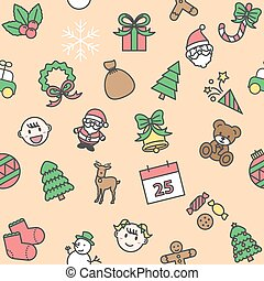 christmas background, seamless