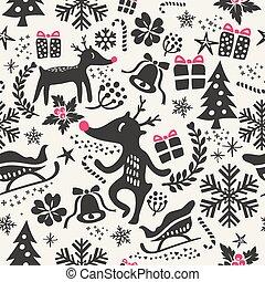 christmas background seamless pattern