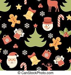 Christmas background, seamless pattern. Vector illustration