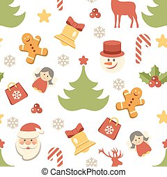 Christmas background, seamless pattern. Vector illustration