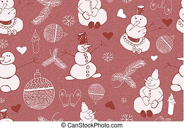 Christmas background, seamless tiling