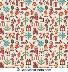 Christmas background, seamless tiling. Vector illustration.
