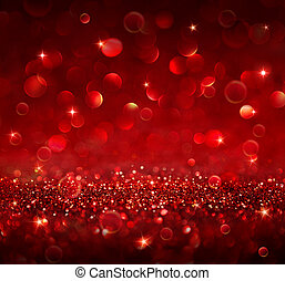 christmas background - shining red glitter