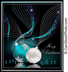 Christmas background silver  and blue