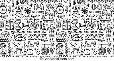 Christmas background, sketch for your design