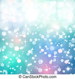 Christmas background. Snow, blured background