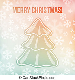 Christmas background, snowflakes and soft colors
