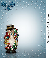 Christmas Background Snowman