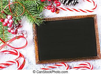christmas background - christmas decoration on the white...