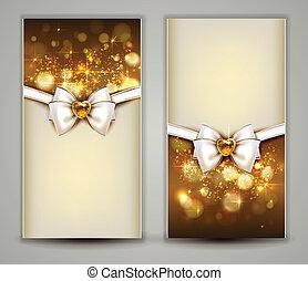 Christmas background - Two elegant Christmas greeting cards...