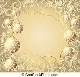 Christmas background - Christmas vector background with...