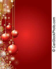 christmas background vector illustration with copy space