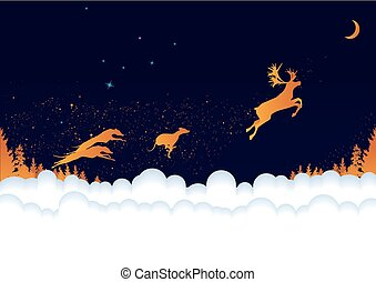 Christmas background - vector New Year 2018 background with...