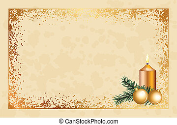christmas background - Vector parchment background with...