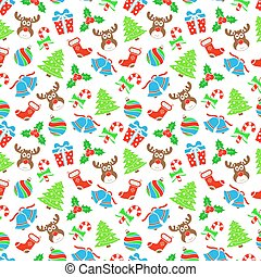 Christmas background, vector seamless pattern