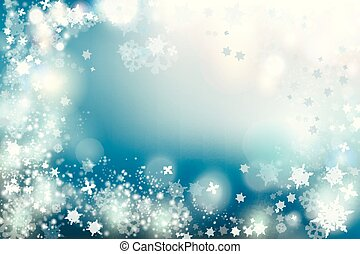 Christmas background vector winter illustration with crystallic snowflakes. New Year theme